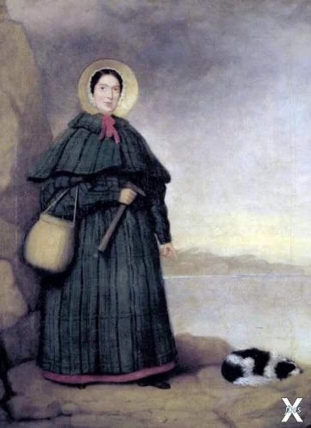 Мэри Эннинг и ее собака Трей