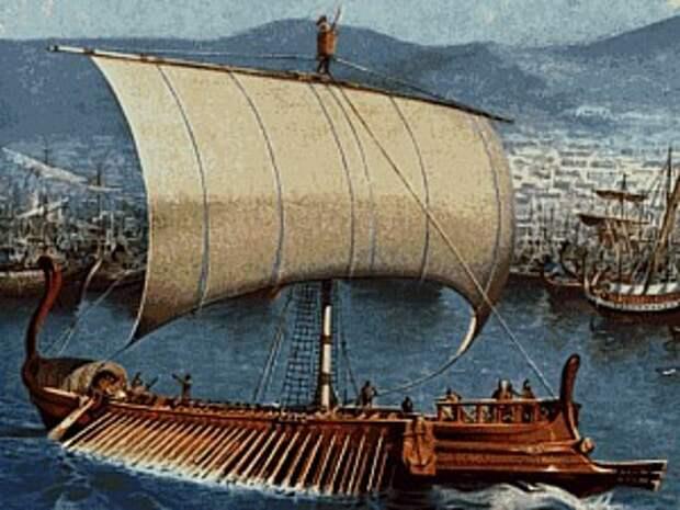 Вольная реконструкция греческой биремы