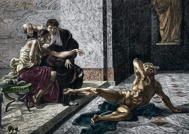 Лукуста— отравительница императоров, которую казнили через изнасилование жирафом
