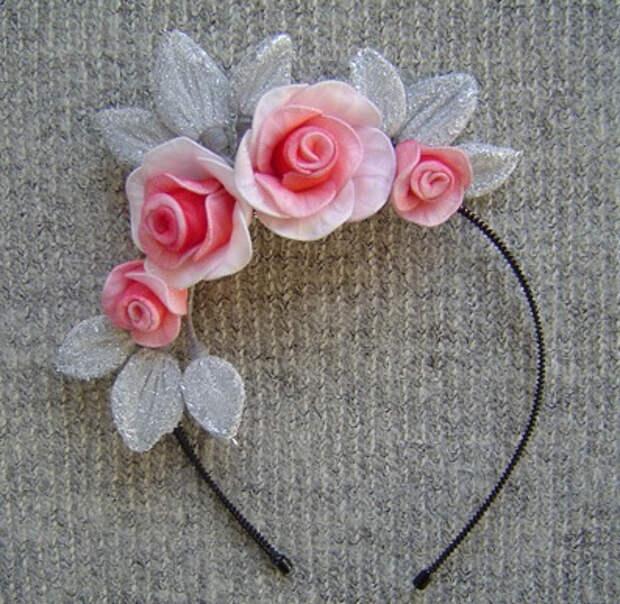 Розы из капрона. Красивые идеи и мастер-класс (5) (397x387, 183Kb)