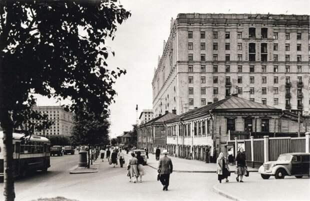 Проспект Мира. Москва. 50-е Изображение интересно, история, фото