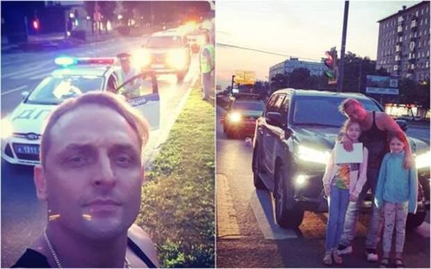 Машину Аскольда Запашного с двумя детьми протаранила легковушка