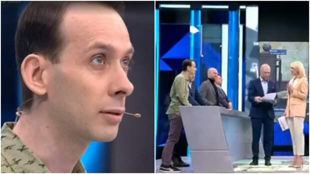 """Ведущие """"Время покажет"""" призвали эксперта из Чехии к ответу за нападки на Россию"""