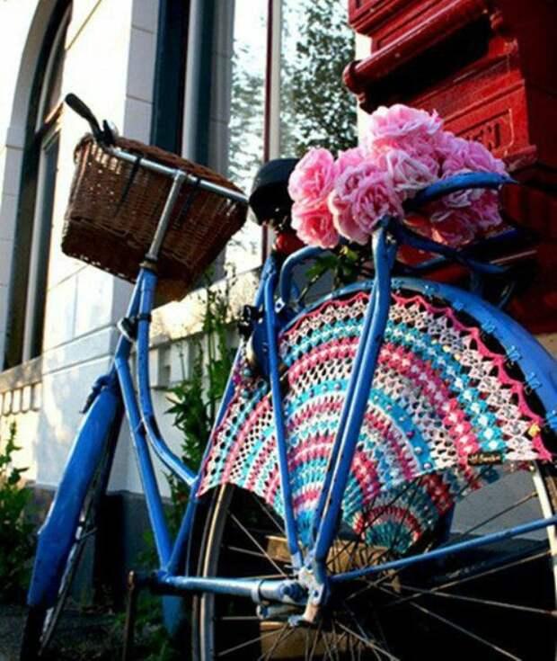Подборка вязаной красоты для велосипедов