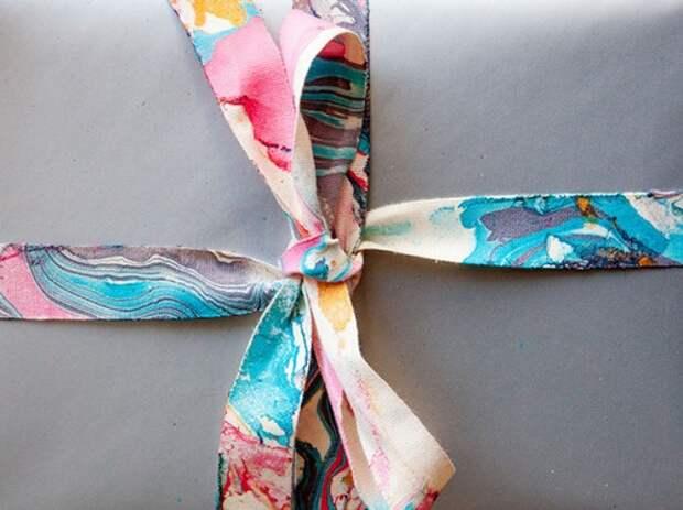 Tie dye банты для упаковки подарков (подборка)