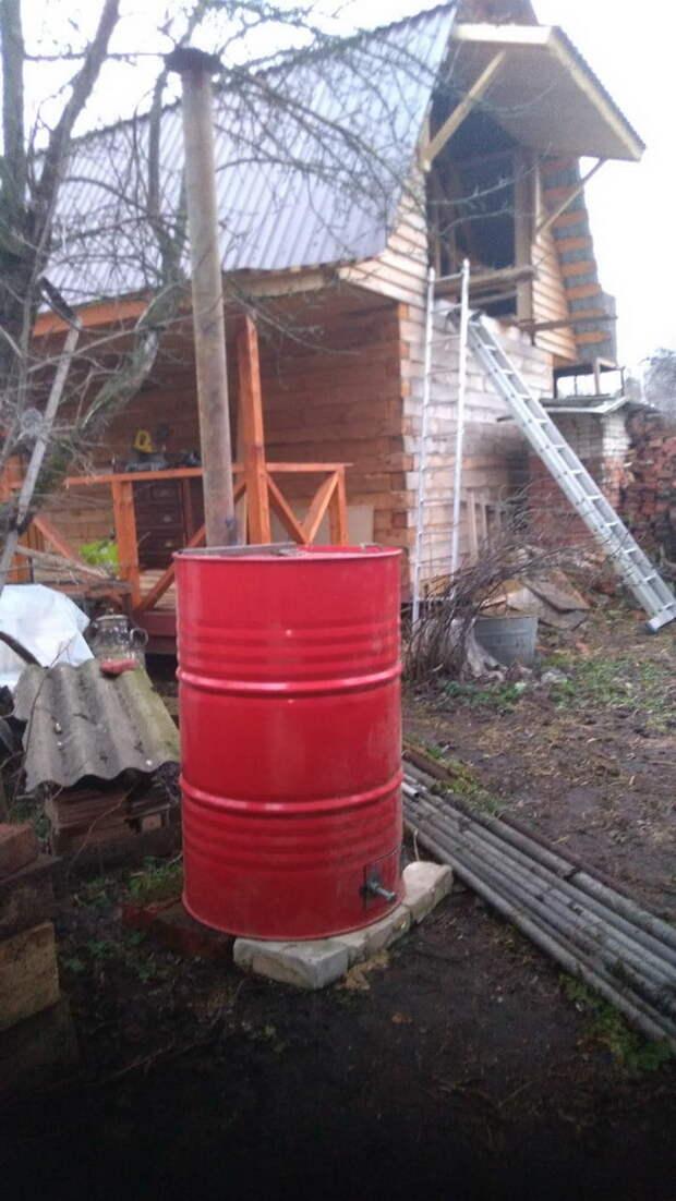Самодельная печь для сжигания мусора на даче