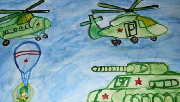 Выставка рисунков ко Дню защитника Отечества продлится до 28 февраля в Подольске