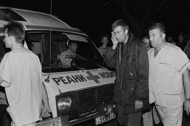 Пикетирование шахтёрами Краснодона Луганской облгосадминистрации. 1998 гнод.