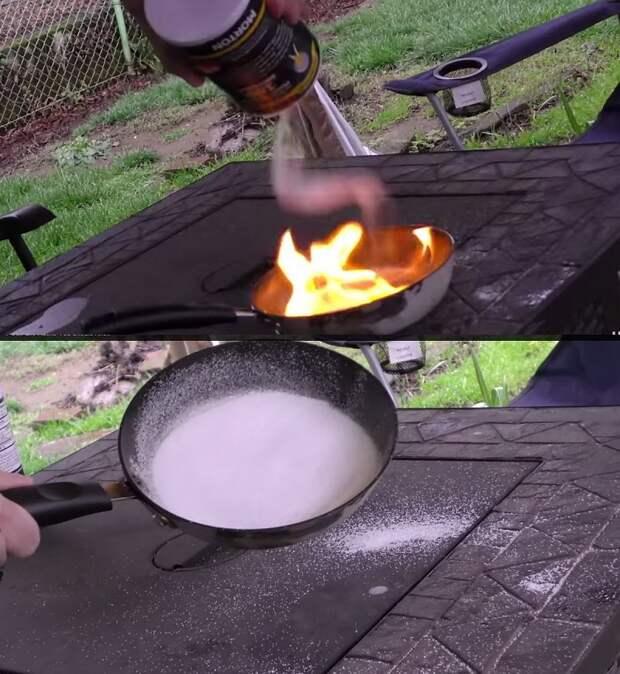 пожар на сковороде