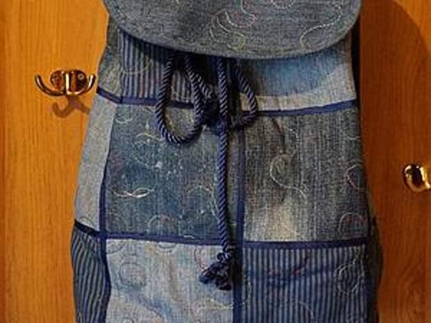 Шьем новый рюкзак из старых джинсов | Ярмарка Мастеров - ручная работа, handmade