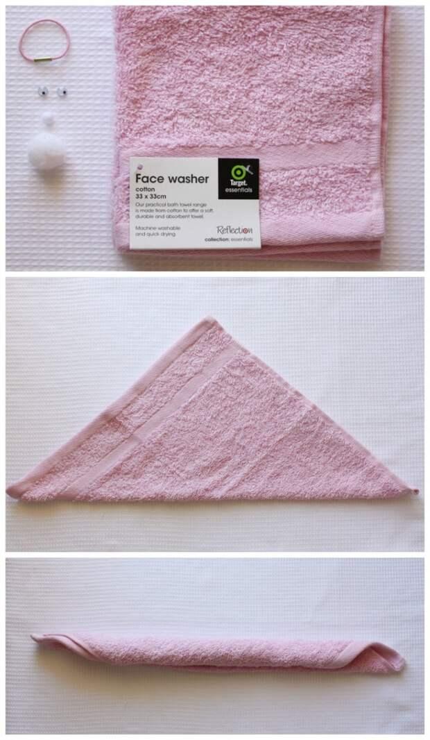 Заяц из полотенца