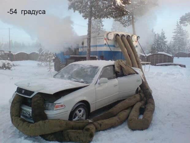 Как заводят машины в мороз в Якутии