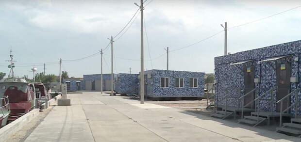США построили на причале в Бердянске вагончики для… защиты от России