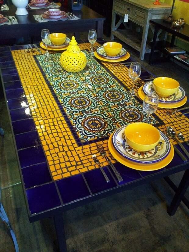 spanish mosaic tile table. furthurla.com