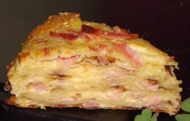 Сырный пирог с ветчиной: отличный способ разнообразить вечернее меню!