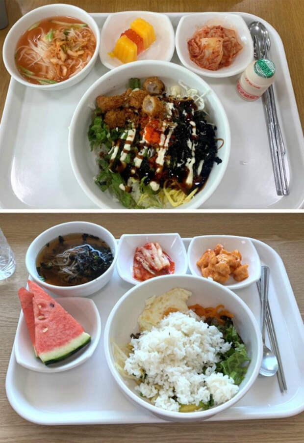Аппетитные блюда из школьной столовой. | Фото: Yaplakal.