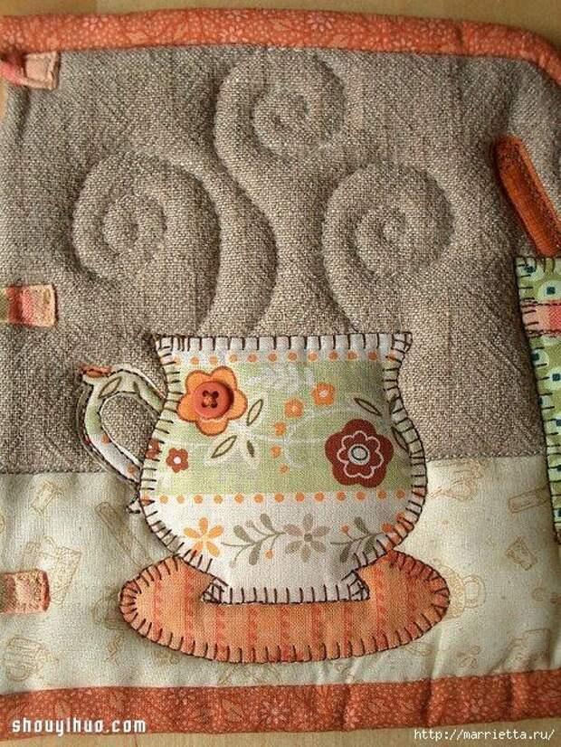 Лоскутное шитье. Красивые грелки для чайника