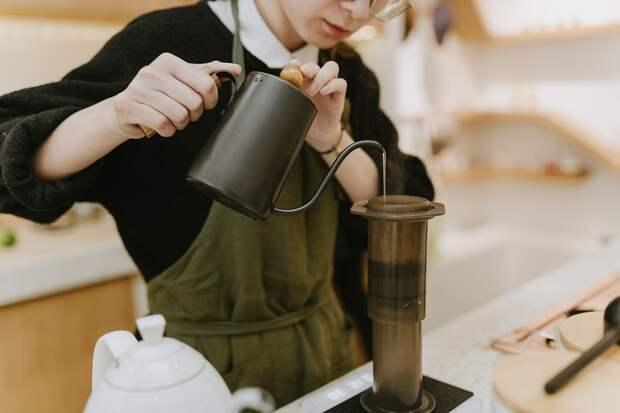 Бариста, Кофе, Подготовка, Розлив, Варится, Кофеин