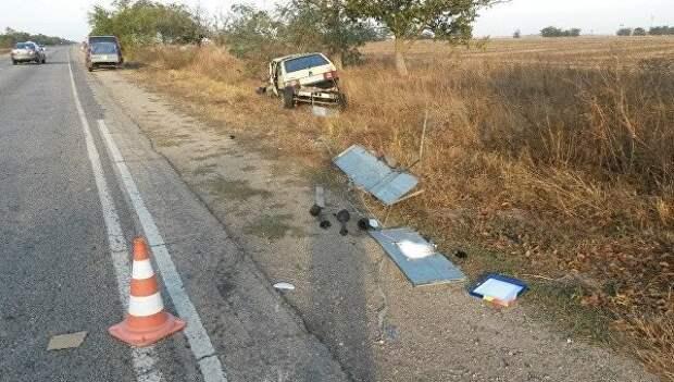 ДТП в Крыму: тройное горе - погиб один человек (фото)