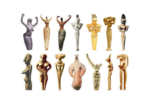 Скульптуры Богинь 4000-3000 до н.э.