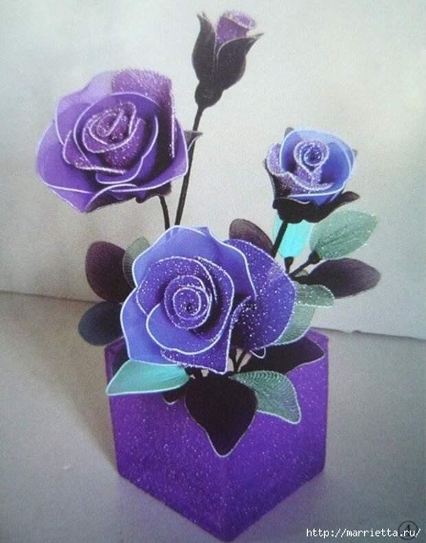 Розы из капрона. Красивые идеи и мастер-класс (42) (447x569, 172Kb)