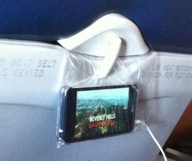 Лайфхак для скучного полёта :-)!