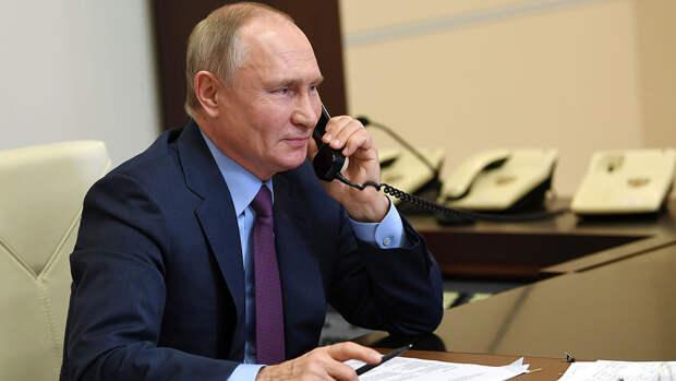 Путин обсудил с премьером Саксонии Донбасс и коронавирус