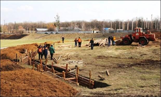 Под Харьковом на белгородском направлении строятся оборонительные укрепления