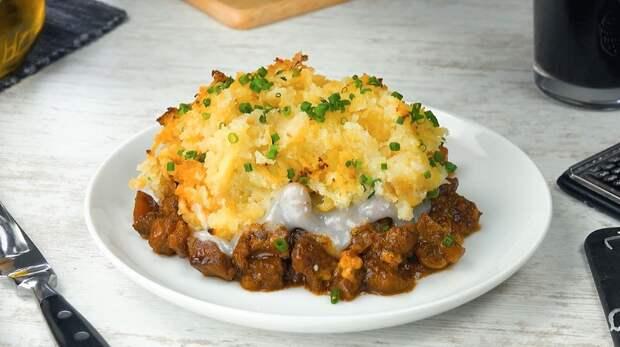Вкуснейшее мясо по-царски: с грибами и картофелем