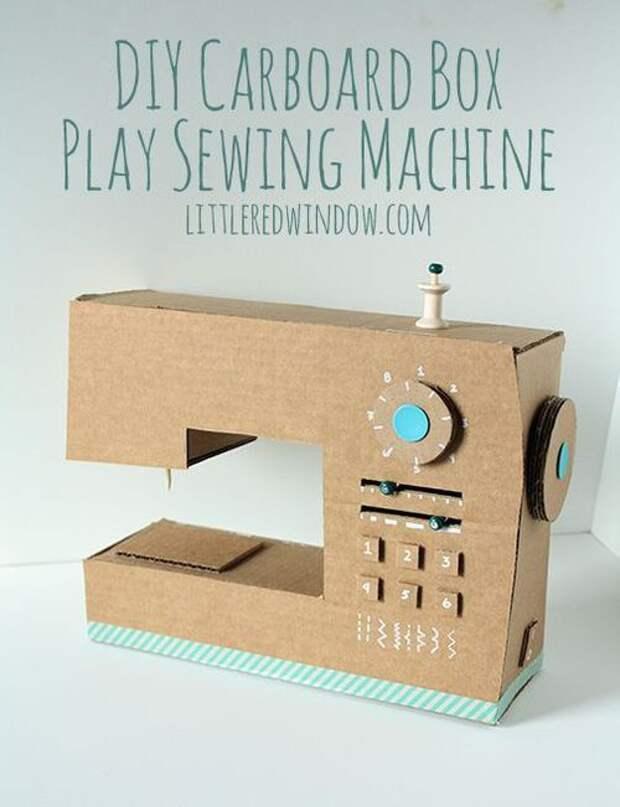 Швейная машина... из коробки (Diy)