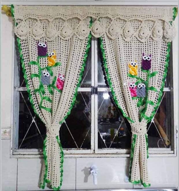 вязание для дома шторы