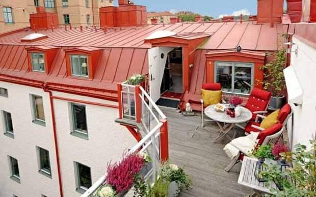 необычный красивый балкон