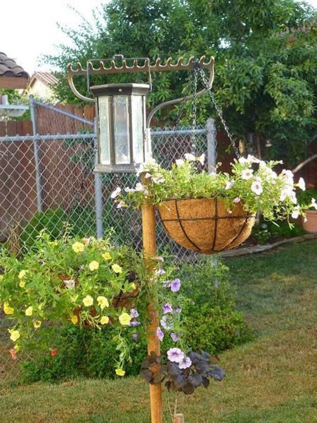 Они станут прекрасным декоративным украшением сада. грабли, идея