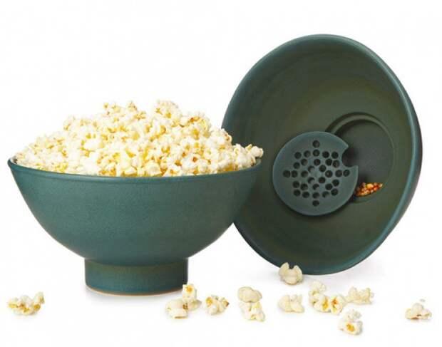 Чаша для попкорна с поддоном для зерен жизнь, изобретения