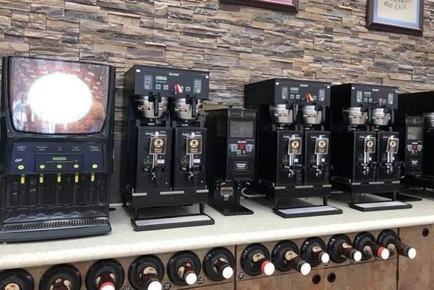 Кофе на АЗС в США.