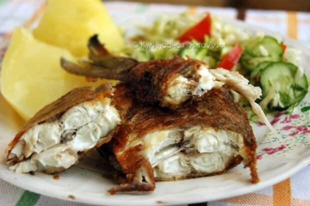 Один маленький секрет жарки речной рыбы без костей