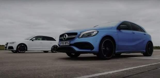 Audi и Mercedes-AMG пообщались на тему цифр и разгона