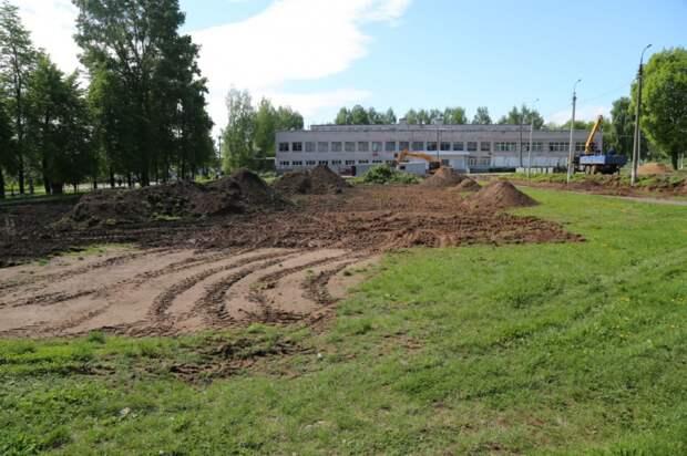 Стадион начали строить у школы №17 на улице Леваневского в Ижевске