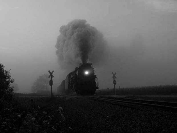 Исчезнувший поезд № 277. Иллюстрация: dirty.ru