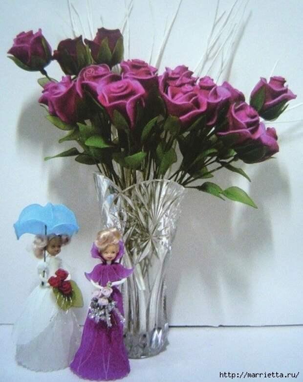 Розы из капрона. Красивые идеи и мастер-класс (44) (456x575, 168Kb)