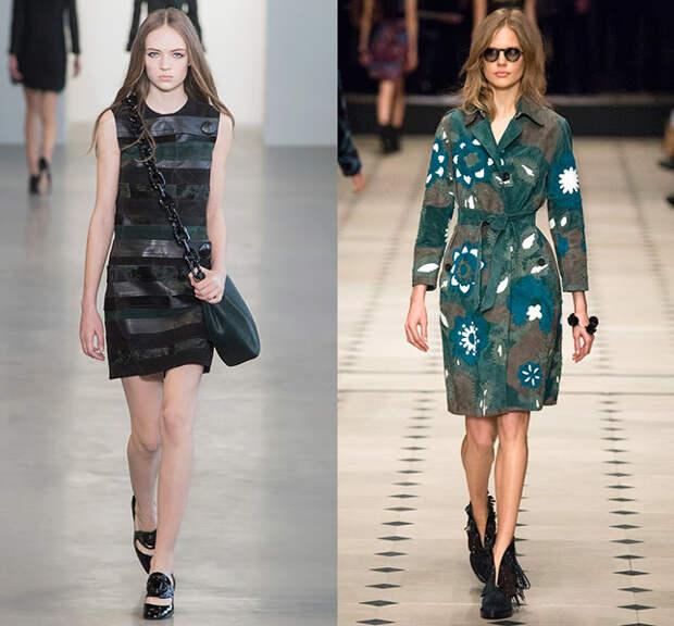 Справа — Calvin Klein, слева — Burberry Prorsum