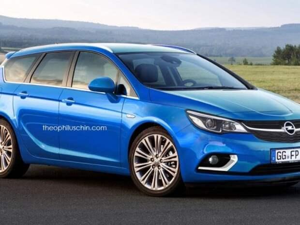 Opel Astra следующего поколения – новые рендеры