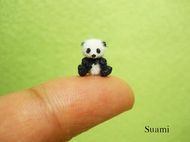 Micro Panda Bear 0.4 Inch - Made To Order