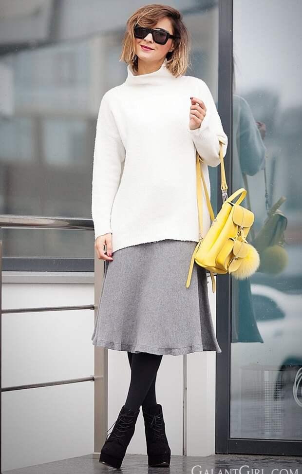 вязаная мода 2016, модные вязаные вещи 2016, свободный свитер крупной вязки (фото 5)