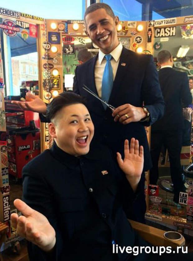 Ким Чен Ын просто выложил это в фейсбук (Удивительное сходство с Обамой)