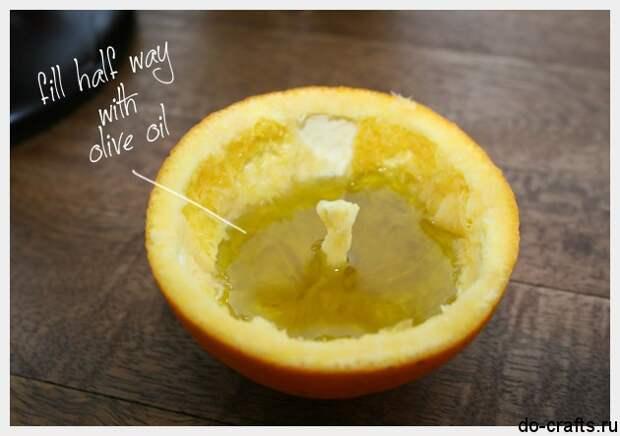 Свеча из апельсина 3