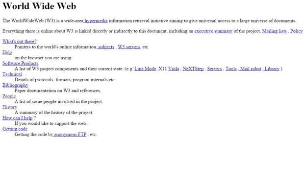 Так выглядел первый веб-сайт
