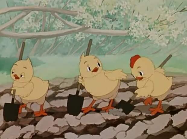 Кадр из мультфильма «Пирожок», 1956 год