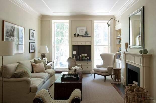 Дизайн гостиной с двумя окнами: описание, внешний вид с фото, оригинальные идеи для дизайна и выбор стиля