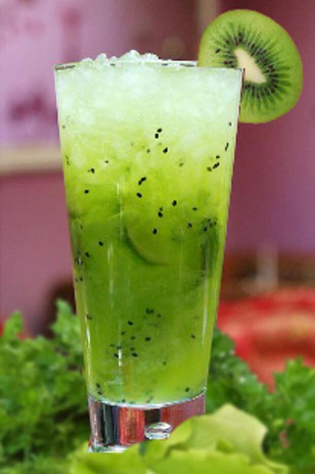 жиросжигающий коктейль из киви для здоровья